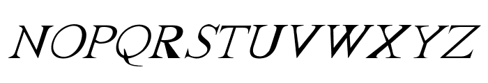 FrankTimes Italic Font UPPERCASE