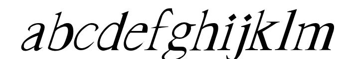 FrankTimes Italic Font LOWERCASE