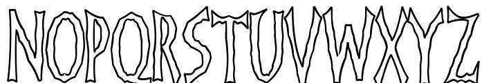 FrankenDork Hollow Font UPPERCASE