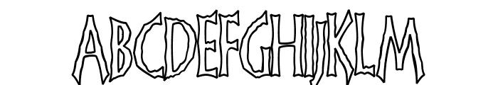 FrankenDork Hollow Font LOWERCASE