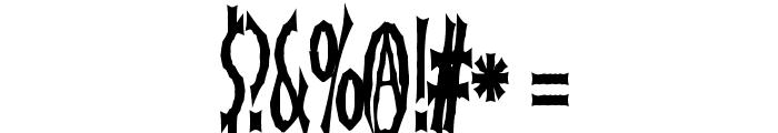 FrankenDork Tall Font OTHER CHARS