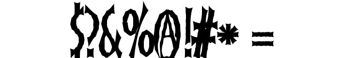 FrankenDork Font OTHER CHARS