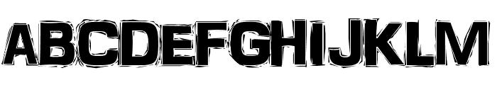 FrankenTOHO Font UPPERCASE