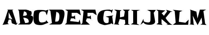 Frantic JL Font UPPERCASE