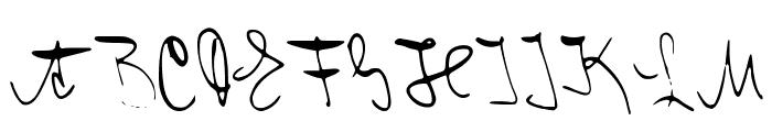 Franz Kafka Font UPPERCASE