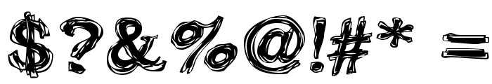 Frazzle Font OTHER CHARS