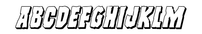 Freakfinder 3D Italic Font LOWERCASE