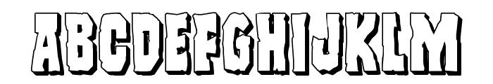 Freakfinder 3D Font UPPERCASE