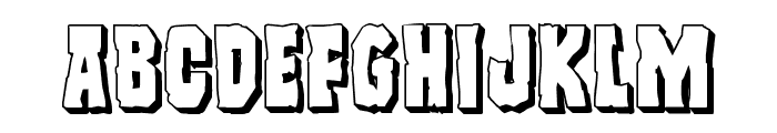 Freakfinder 3D Font LOWERCASE
