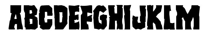 Freakfinder Expanded Font UPPERCASE