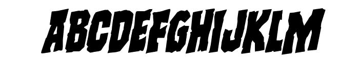 Freakfinder Rotalic Font UPPERCASE