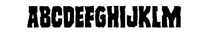 Freakfinder Staggered Font UPPERCASE