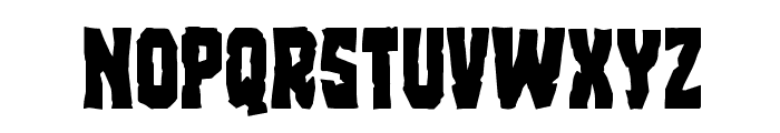 Freakfinder Staggered Font LOWERCASE