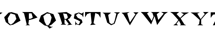 Freakout Plain Font UPPERCASE
