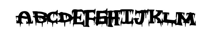 FreakyNight Font UPPERCASE