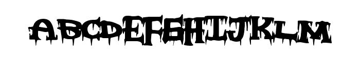 FreakyNight Font LOWERCASE