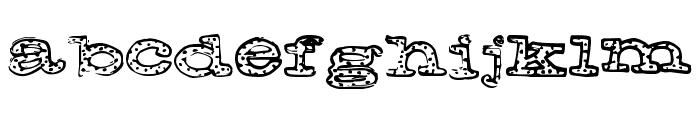 FreckleJackson Font LOWERCASE