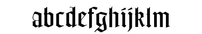 FrederickText Font LOWERCASE