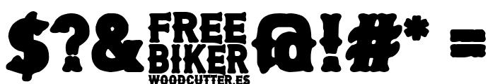 Free Biker Font OTHER CHARS