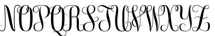 Free Monogram Beta Font UPPERCASE