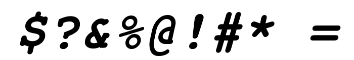 Free Monospaced Bold Oblique Font OTHER CHARS