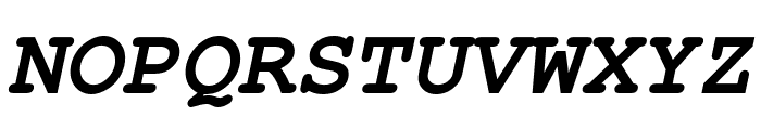 Free Monospaced Bold Oblique Font UPPERCASE