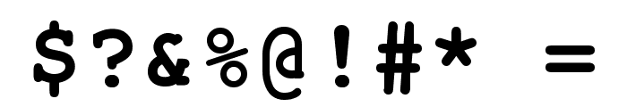 Free Monospaced Bold Font OTHER CHARS