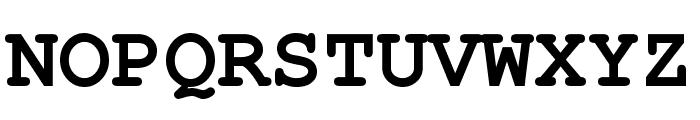 Free Monospaced Bold Font UPPERCASE