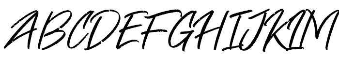Free Pen Font UPPERCASE