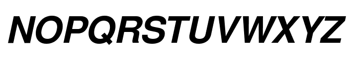 Free Sans Bold Oblique Font UPPERCASE