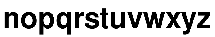 Free Sans Bold Font LOWERCASE