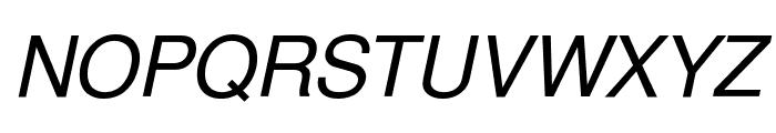 Free Sans Oblique Font UPPERCASE