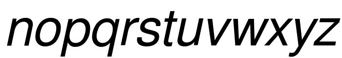 Free Sans Oblique Font LOWERCASE