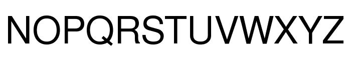 Free Sans Font UPPERCASE