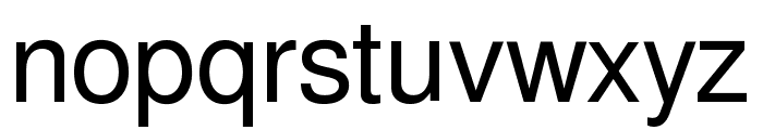 Free Sans Font LOWERCASE
