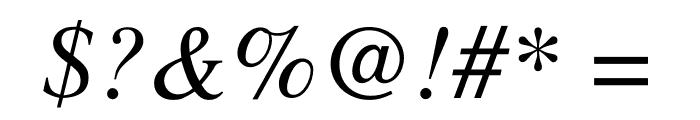 Free Serif Italic Font OTHER CHARS