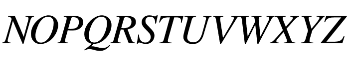 Free Serif Italic Font UPPERCASE