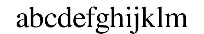 Free Serif Font LOWERCASE