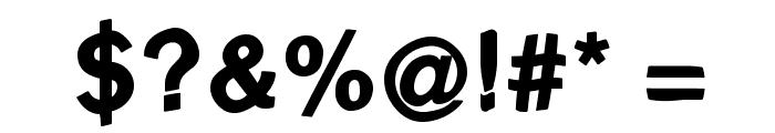 FreeBradburySans Medium Font OTHER CHARS