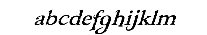 Freebooter Italic Font LOWERCASE