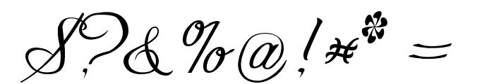 Freebooter Script Font OTHER CHARS