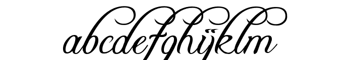 Freebooter Script Font LOWERCASE