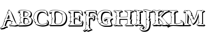 Freebooter Shadow Font UPPERCASE