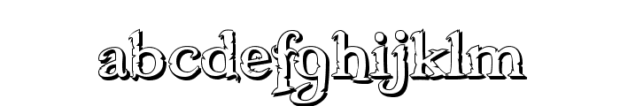 Freebooter Shadow Font LOWERCASE