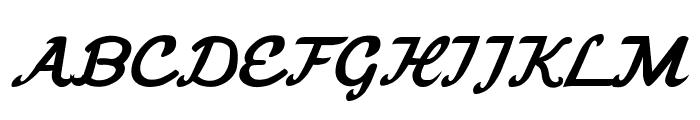 Freebrush Script Font UPPERCASE
