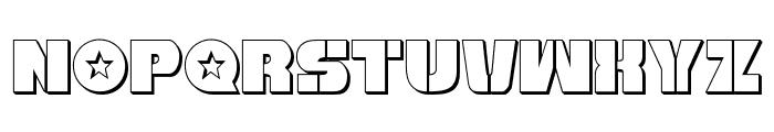 Freedom Fighter 3D Regular Font LOWERCASE