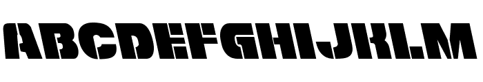 Freedom Fighter Leftalic Font LOWERCASE
