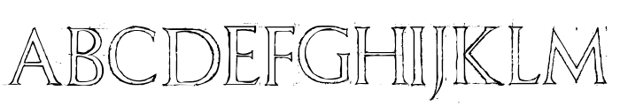 Freehand Roman Font UPPERCASE