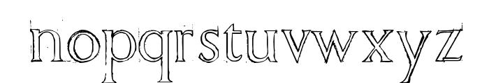 Freehand Roman Font LOWERCASE