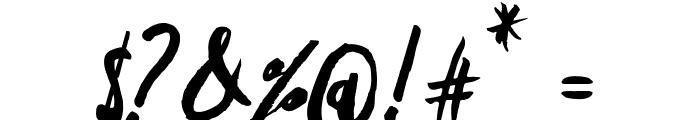 Freehand Script Random Font OTHER CHARS